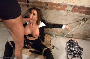 Busty FBI bitch gets tied up and fucked with passion - XXXonXXX - Pic 9