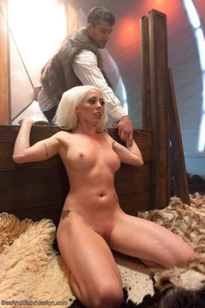 Slender blonde gal enjoys rough sex with her kinky man - XXXonXXX - Pic 6