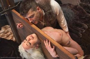 Slender blonde gal enjoys rough sex with her kinky man - XXXonXXX - Pic 7