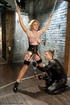 Blonde MILF in latex outfit gets drilled by a young stud