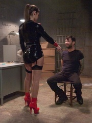 Brunette slut in latex gets tied up and fucked so - XXXonXXX - Pic 3