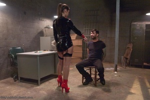 Brunette slut in latex gets tied up and fucked so well - XXXonXXX - Pic 3