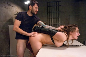 Brunette slut in latex gets tied up and fucked so well - XXXonXXX - Pic 12