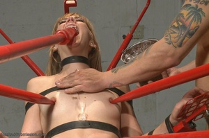 Blonde MILF with glasses gets rammed so rough in the office - XXXonXXX - Pic 14