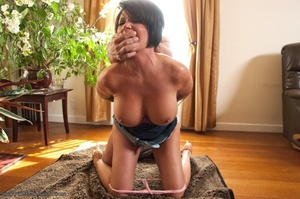 19 year old slut and her stepmom get tied up and banged - XXXonXXX - Pic 9