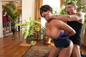 19 year old slut and her stepmom get tied up and banged - XXXonXXX - Pic 10