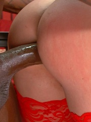 Brunette lady in red stockings get a big black - XXXonXXX - Pic 13