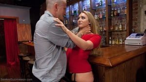 Tattooed hunk screws a wonderful blonde lady in the bar - XXXonXXX - Pic 4