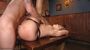 Tattooed hunk screws a wonderful blonde lady in the bar - XXXonXXX - Pic 12