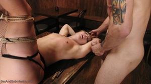 Tattooed hunk screws a wonderful blonde lady in the bar - XXXonXXX - Pic 13