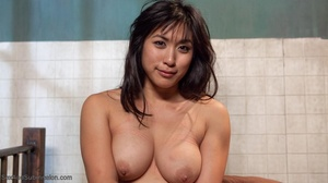 Raven haired Asian lady gets pleased by a freaky young man - XXXonXXX - Pic 18