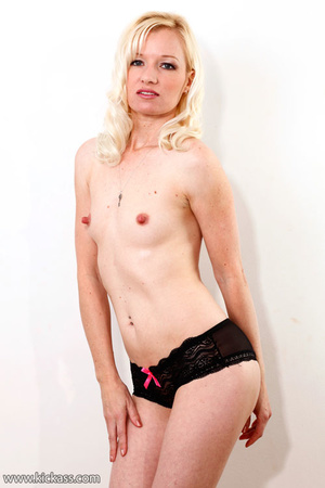 Naughty blonde in black underwear unzips guy's cock to lick and wank it to cum - XXXonXXX - Pic 3