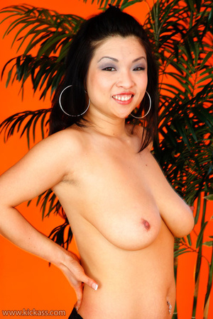 Busty Asian beauty in black lingerie work cock to jizz with mouth, tits and hands - XXXonXXX - Pic 4