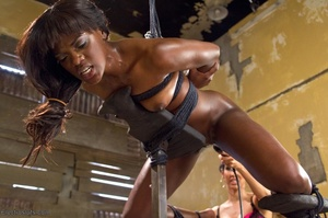 Ebony princess is hoisted in the air and - XXX Dessert - Picture 12