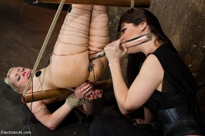 Copper wire is wrapped around a woman's  - XXX Dessert - Picture 9