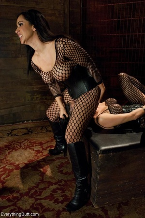 Females in fishnets look hot when playin - XXX Dessert - Picture 7