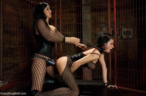 Females in fishnets look hot when playin - XXX Dessert - Picture 9