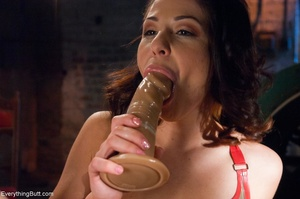 Cock-loving lesbian cuties use fake dick - XXX Dessert - Picture 9