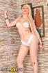 Desirable male minx in a white knit bikini takes a…