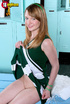 Sensational cat in a green and white cheerleader…