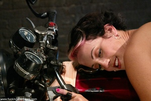 Ardent babe really loves bikes and fucking machines - XXXonXXX - Pic 7