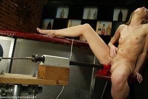 Skinny bartender has fun only when nightclub is closed - XXXonXXX - Pic 14