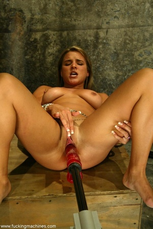 Slave frame and sex machine make blonde extremely excited - XXXonXXX - Pic 15