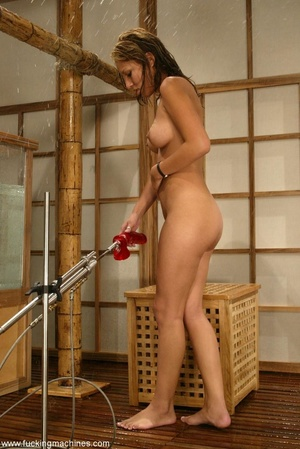 Sauna is a nice place for dirty masturbation action - Picture 11