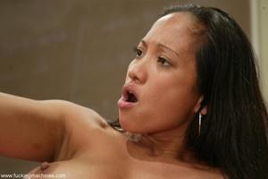 Nice interracial lesbian scene with crazy sex machines - XXXonXXX - Pic 7