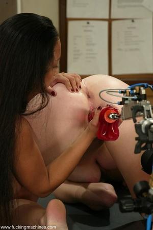 Nice interracial lesbian scene with crazy sex machines - XXXonXXX - Pic 10