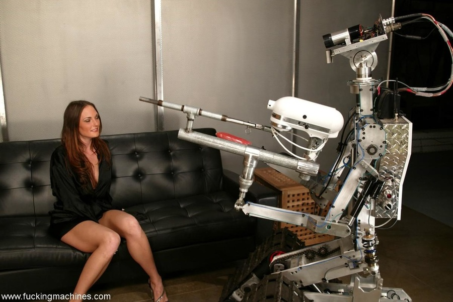The robot fucks well-shaped lady better than any male - XXXonXXX - Pic 1