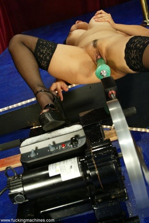 Two machine dildos humiliate both holes of a brave woman - XXXonXXX - Pic 13