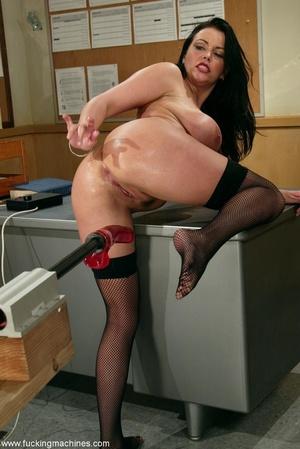 Big-breasty brunette teacher rides the machine dildo - XXXonXXX - Pic 7