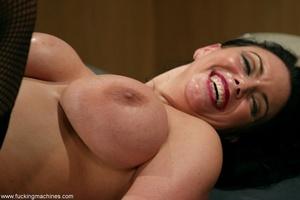 Big-breasty brunette teacher rides the machine dildo - XXXonXXX - Pic 9