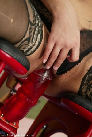 Sybian and fucking machines help girl to entertain - XXXonXXX - Pic 2