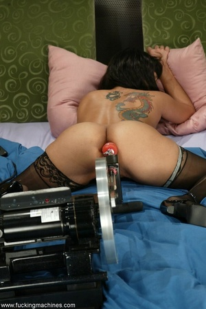 Sybian and fucking machines help girl to entertain - XXXonXXX - Pic 7