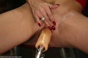 Girl has custom built sex machine with a remote control - XXXonXXX - Pic 7