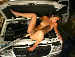 Wet cunt gets drilled by robotic sex machine in the car - XXXonXXX - Pic 8
