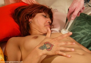 Redhead Latina rides sybian machine like never before - XXXonXXX - Pic 14