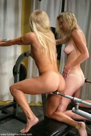 Two blonde-haired sexy peaches have fun in the gym - XXXonXXX - Pic 8