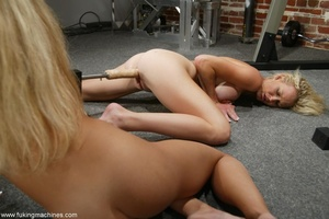 Two blonde-haired sexy peaches have fun in the gym - XXXonXXX - Pic 16