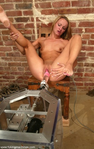 Powered dildo makes happy babe at a construction site - XXXonXXX - Pic 12