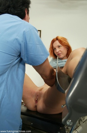 Red-headed MILF gets cum in her face after machine fuck - XXXonXXX - Pic 1