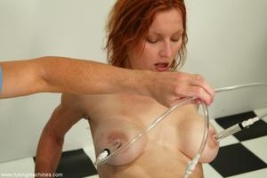 Red-headed MILF gets cum in her face after machine fuck - XXXonXXX - Pic 14