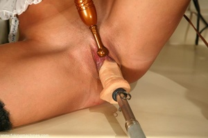 Seductive maid found sex machines of the apartment's owners - XXXonXXX - Pic 7