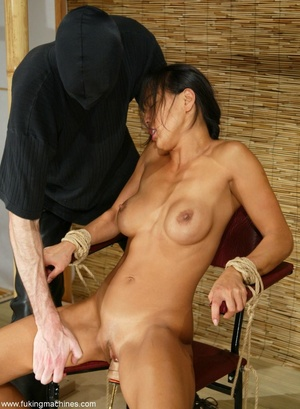 Asian cutie gets her puss banged by the powered dildo - XXXonXXX - Pic 9