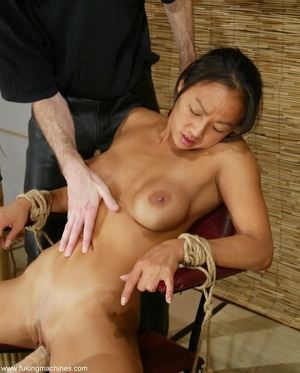Asian cutie gets her puss banged by the powered dildo - XXXonXXX - Pic 13