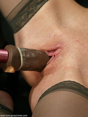 Machine driven dildos make beauty in stockings excited - XXXonXXX - Pic 14