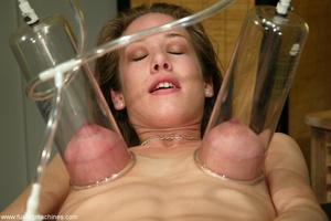 Machine driven dildos make beauty in stockings excited - XXXonXXX - Pic 17
