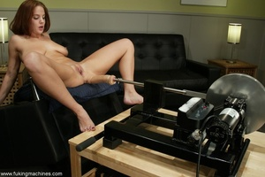 Crazy fucking machine replaces a real skilled sex partner - XXXonXXX - Pic 15